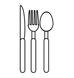 set of cutlery graphic vector image