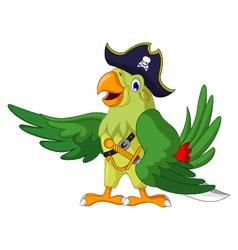 cute parrot cartoon for you design vector image