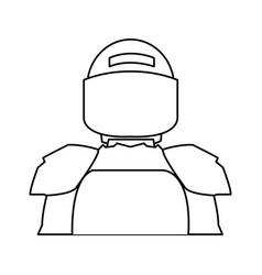 american footbal shoulder pads helmet uniform vector image