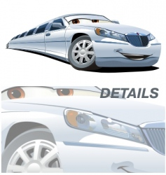 cartoon limousine vector image vector image