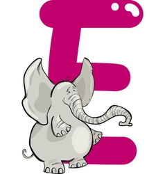 E for elephant vector image vector image