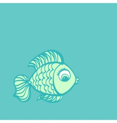 Fish drawing vector image vector image