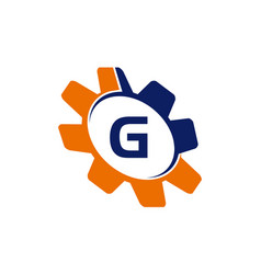 gear initial g vector image vector image