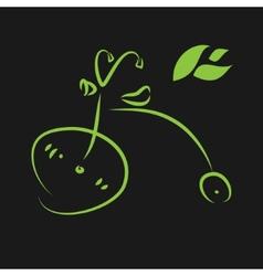 Green eco bike vector image
