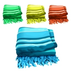 Green yellow red and blue towel vector