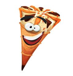 Ice cream cone character vector