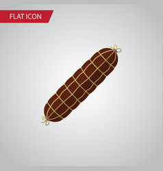 isolated bratwurst flat icon smoked sausage vector image