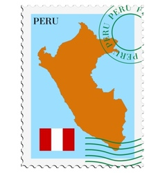 mail to-from Peru vector image vector image