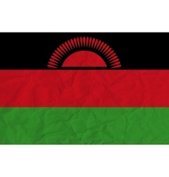 Malawi paper flag vector image vector image
