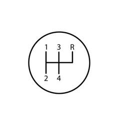 Manual gearshift icon vector