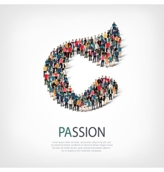 passion people sign 3d vector image