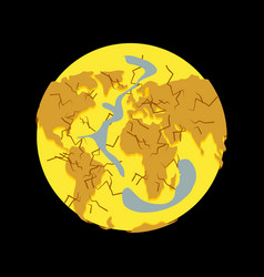 planet drought dry ground natural disasters on vector image