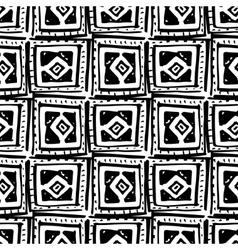 Rhombus and squares simple seamless pattern hand vector image