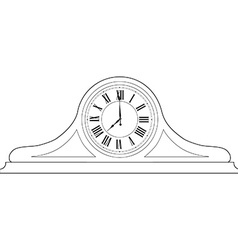 Table clock outline drawing vector image vector image