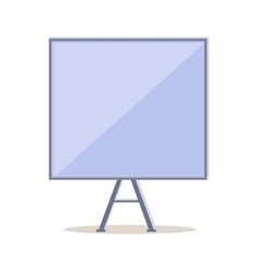Tripod whiteboard with blank board screen vector