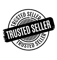 Trusted seller rubber stamp vector