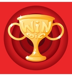 Win Cup Symbol Icon Concept Stylish Background vector image