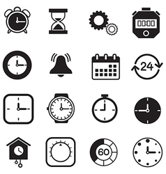 Timer watch and clock icons vector
