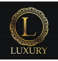 Luxury gold emblem design vector image