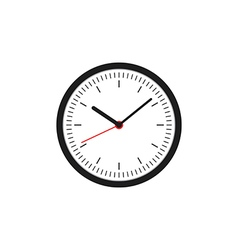 Clock icon flat design vector