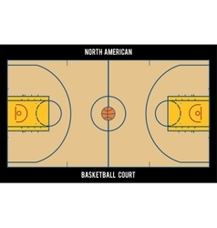 North American basketball courtTop view vector image