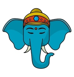 Sacred elephant india vector