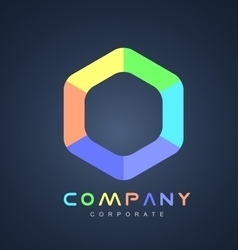 Corporate business hexagon logo icon design vector image