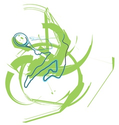 Sketch of man playing tennis vector image