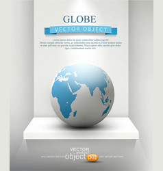 globe standing on a shelf element for design vector image