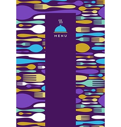 Food restaurant menu design in violet vector image