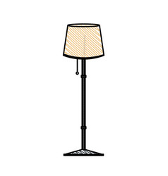 post lamp room decoration vector image