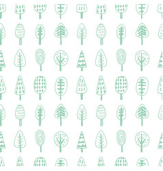 Forest trees nordic seamless pattern vector