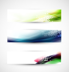 Abstract colorful flow banner template vector