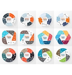 Circle infographics set template for cycle vector