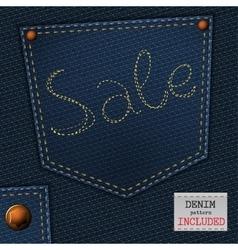 Jeans sale vector
