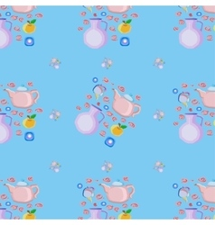 Dishes seamless pattern vector