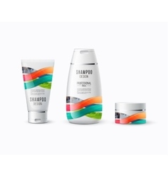 Abstract body care cosmetic brand concept tube vector