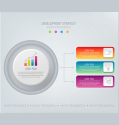 abstract element for businessstrategy in vector image vector image