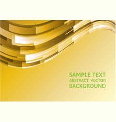 Abstract gold geometric waves background with vector