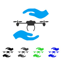Airdrone care hands flat icon vector
