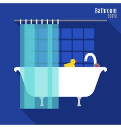 Bathroom in flat style vector