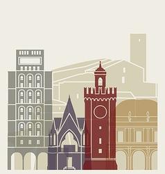 Brescia skyline poster vector