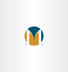circle logo letter m sign element vector image
