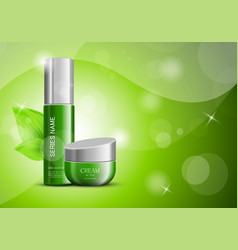 cosmetic products ads design template vector image