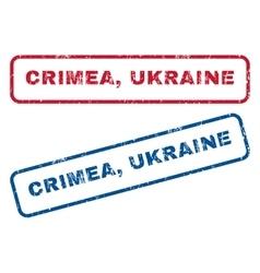 Crimea ukraine rubber stamps vector