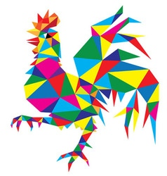Geometric rooster vector