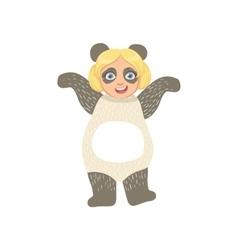 Girl Wearing Panda Animal Costume vector image vector image