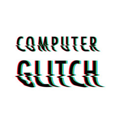 Glitch text background vector