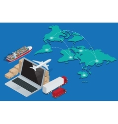 Global logistics network Concept of air cargo vector image