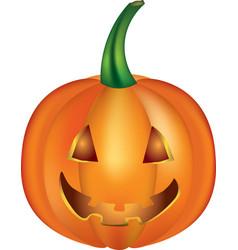 halloween pumpkin on white background vector image vector image